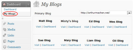 New My Blog Page